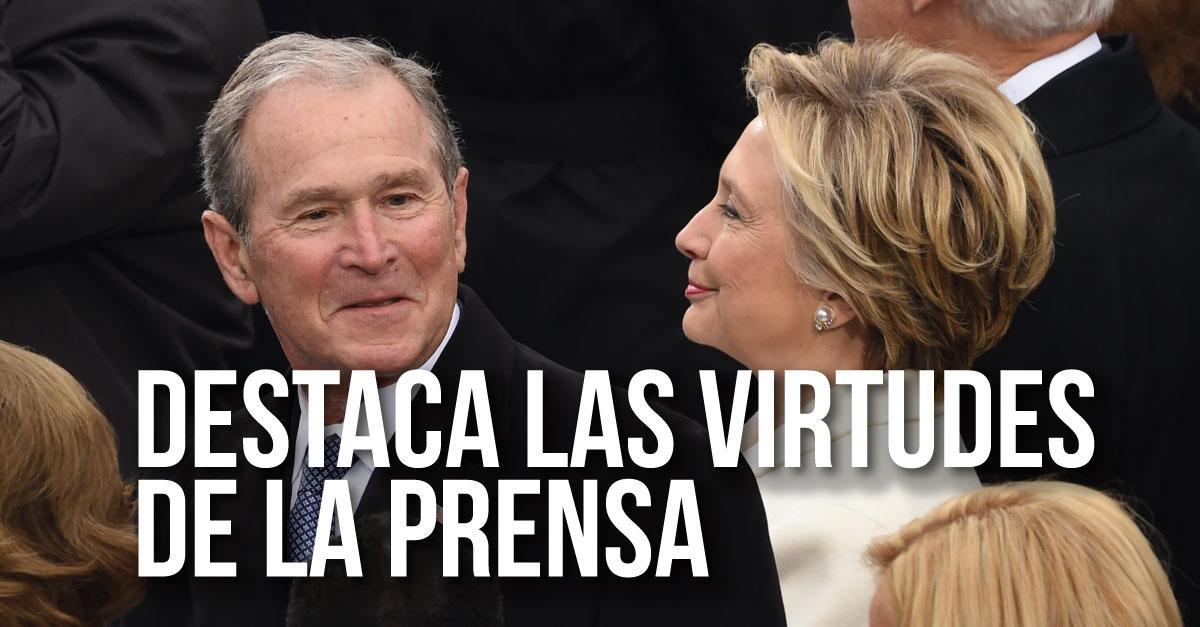 Ex presidente George W. Bush dice que los medios son indispensables para la democracia