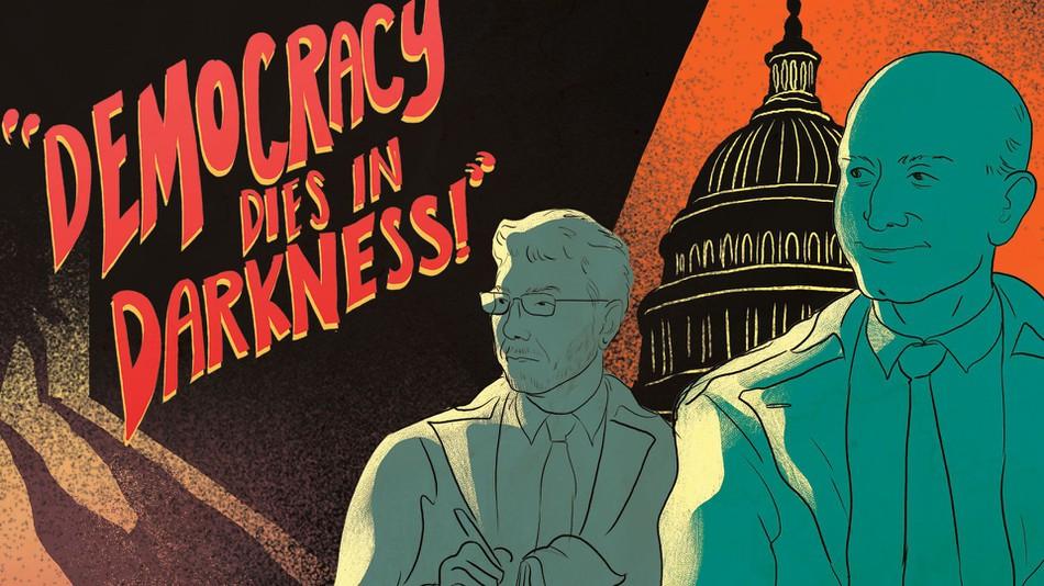 Un póster inspirado en el nuevo lema del Washington Post