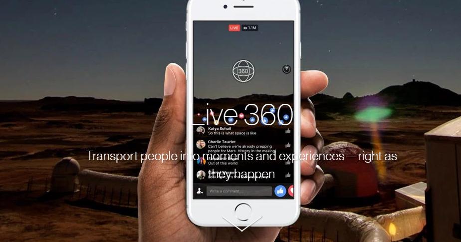 Facebook hace más fácil la transmisión de video 360 en vivo