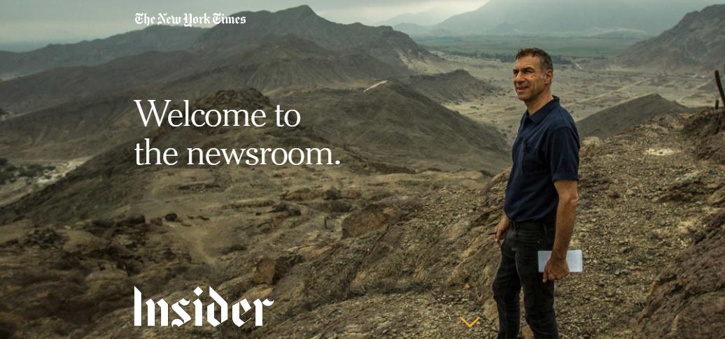 NYT presenta el detrás de escenas de la sala de redacción en una nueva web