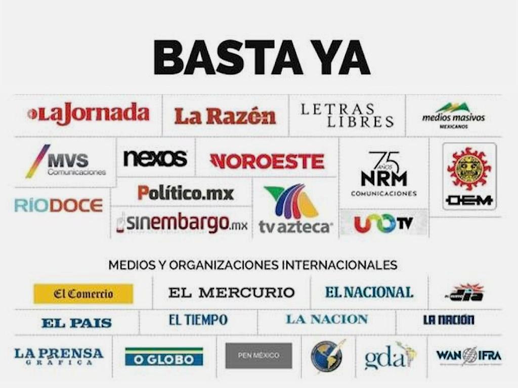 Medios de México protestan así contra la violencia que sufren sus periodistas