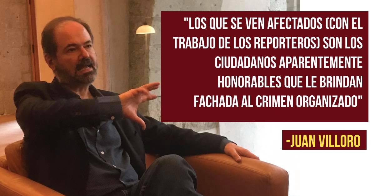 """Juan Villoro: """"No creo que sean los grandes capos del crimen organizado los que estén matando periodistas"""""""