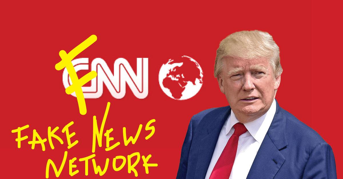Donald Trump rebautiza a CNN como FNN (Fake News Network), el canal de noticias falsas