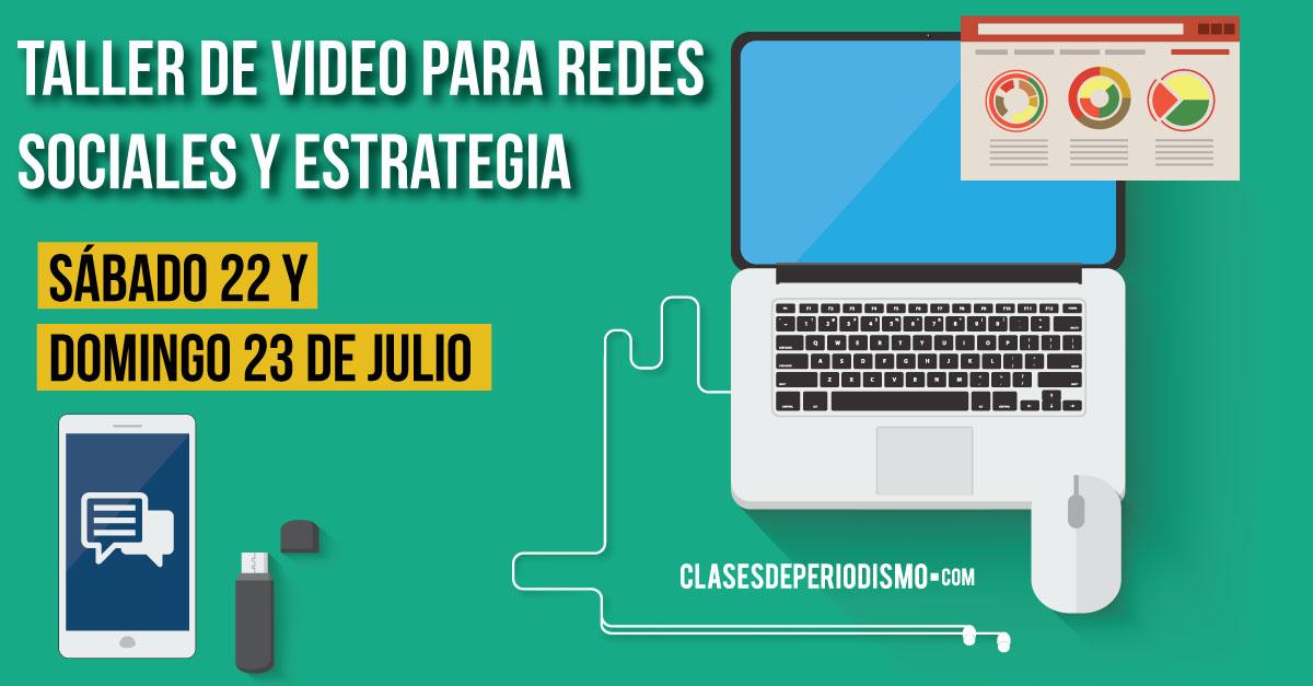 Taller de video para redes sociales y estrategia