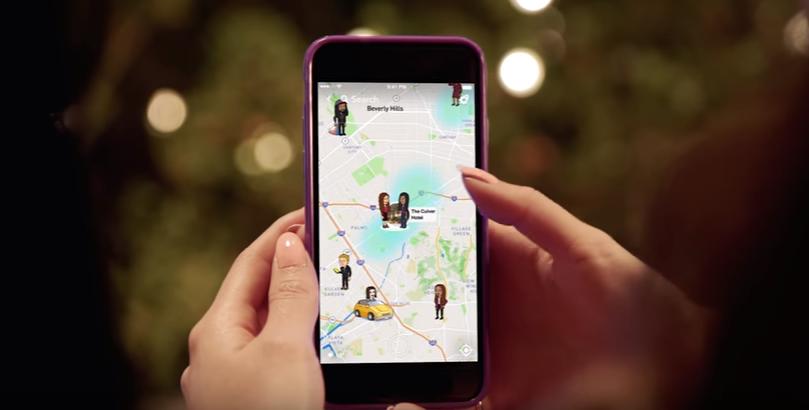 Snapchat permite compartir ubicaciones en un mapa
