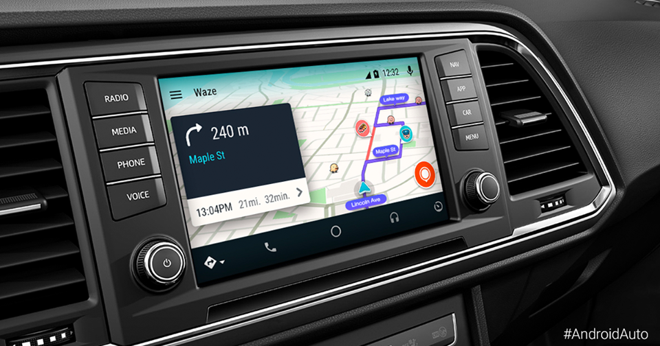 Waze ya está disponible para Android Auto