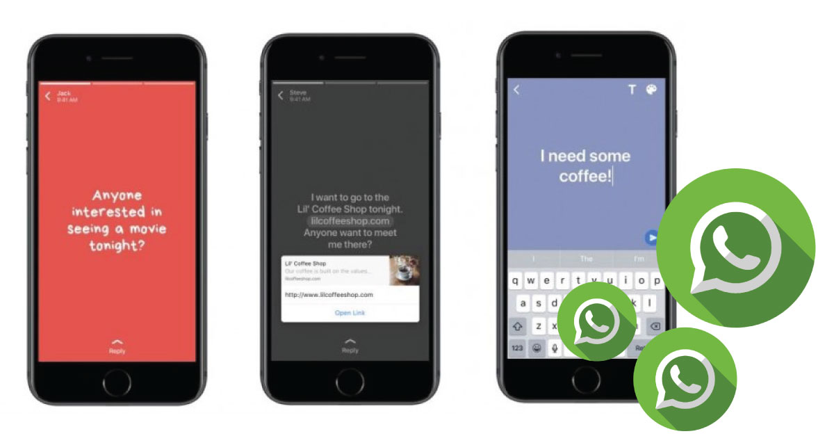 WhatsApp añade fondos de colores y enlaces a sus actualizaciones de estado
