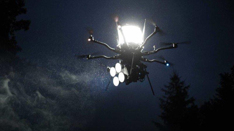 Este corto fue realizado por completo con iluminación desde drones
