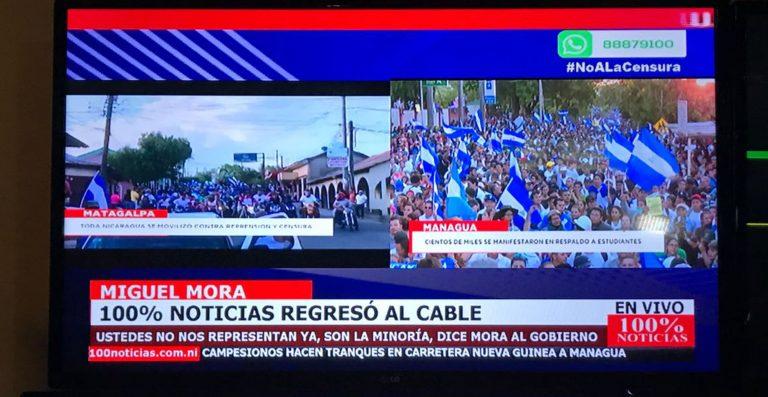 """Director de canal censurado en Nicaragua: """"Daniel (Ortega), vos no sos dueño de la libertad de prensa de este país"""""""