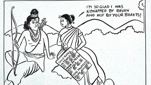 Una periodista y dibujante india es amenazada por una viñeta contra las violaciones