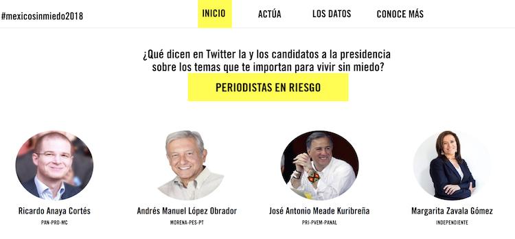 México sin miedo, la plataforma que seguirá posturas públicas en Twitter de candidatos presidenciales