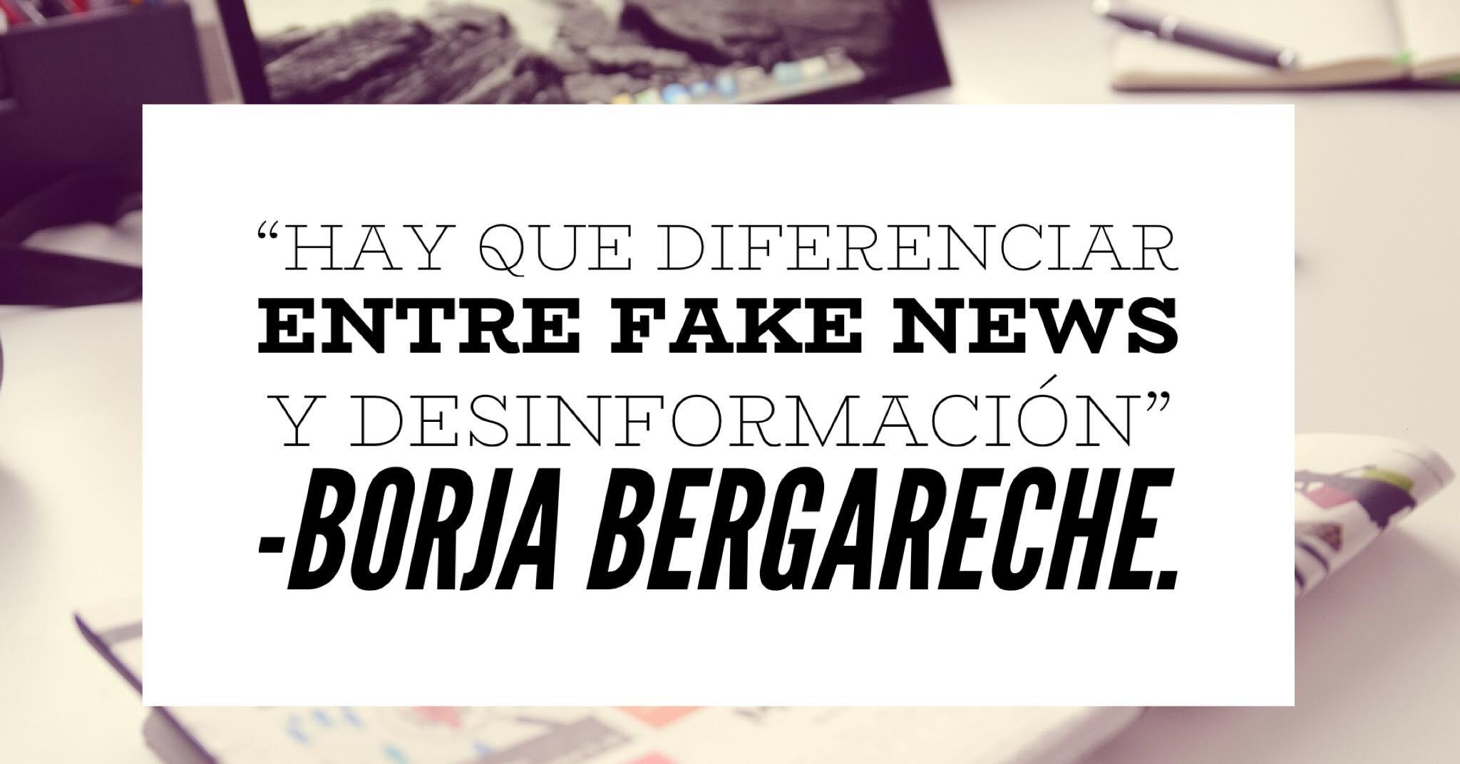 """Borja Bergareche: """"Una redacción es en sí misma un proceso de verificación con más de 150 años de historia""""."""