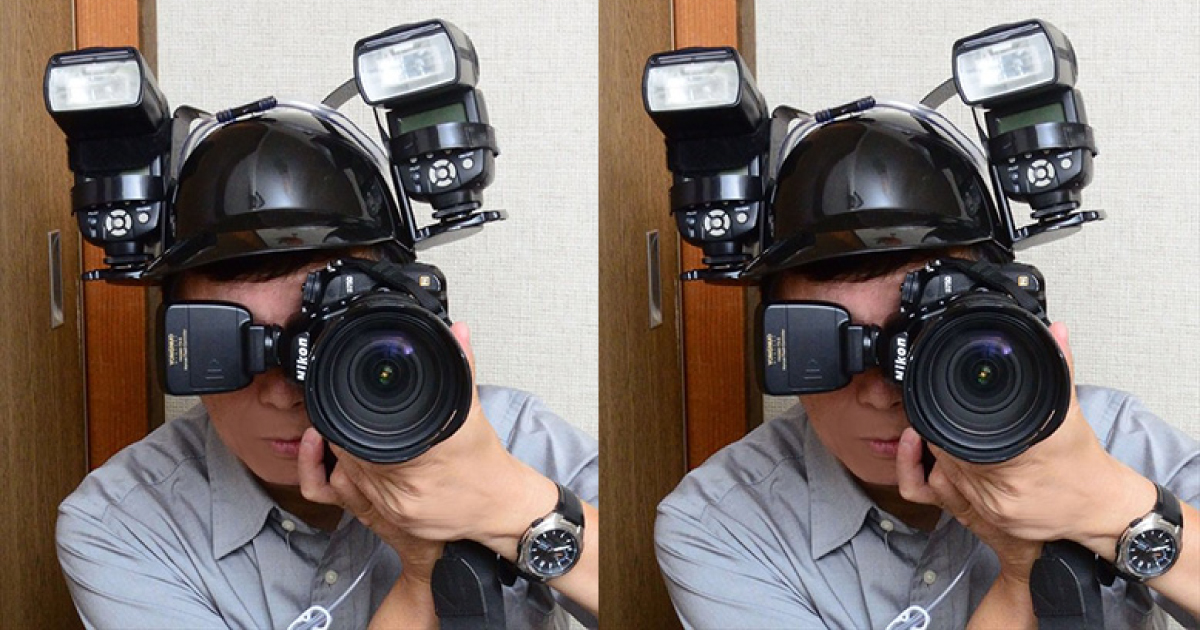 Transforman casco de cerveza en un equipo útil para la iluminación fotográfica