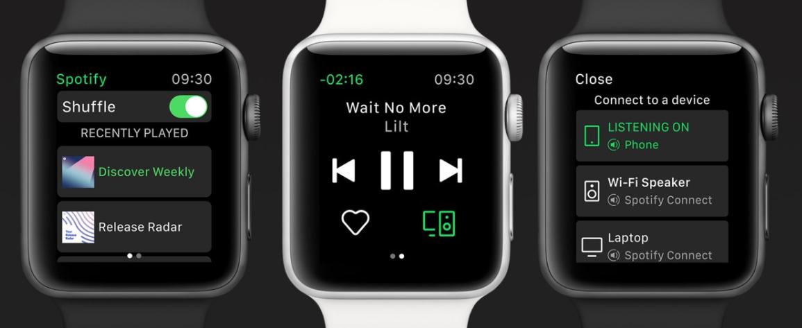 Spotify ahora en el Apple Watch
