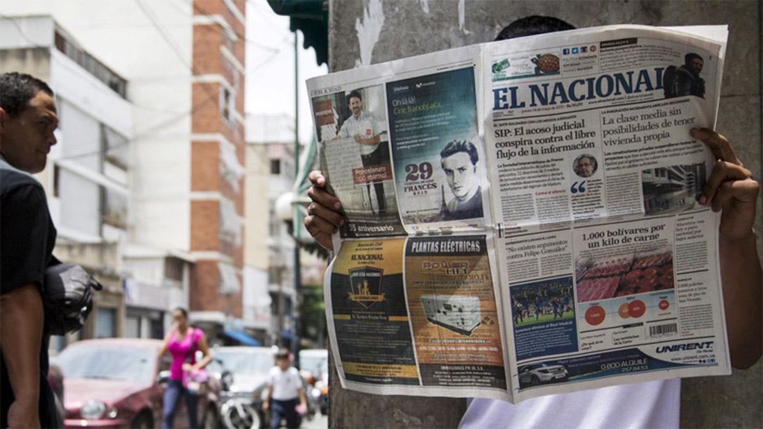 Diario El Nacional de Venezuela se despide del papel por culpa del gobierno de Maduro