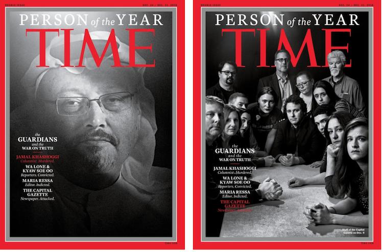 Periodistas son nombrados Persona del Año 2018 por la revista Time