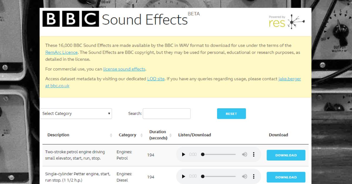 Descarga más de 16 mil efectos de sonido gratuitos desde el archivo de la BBC