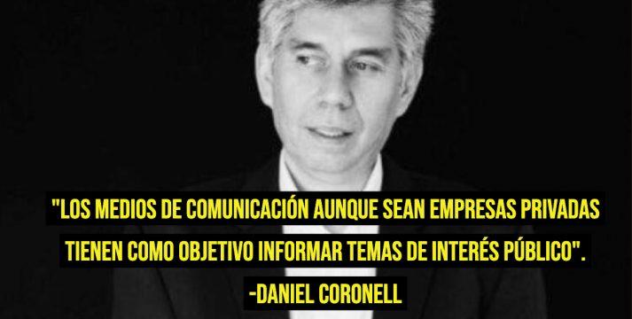 Daniel Coronell: 'Un columnista puede discrepar públicamente del medio para el que trabaja'
