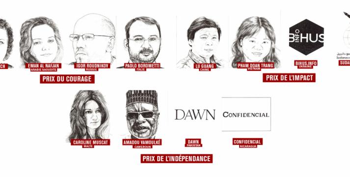 Conoce a los nominados al premio a la libertad de prensa de Reporteros sin Fronteras