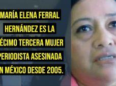 México: asesinan en el estado de Veracruz a la periodista María Elena Ferral Hernández